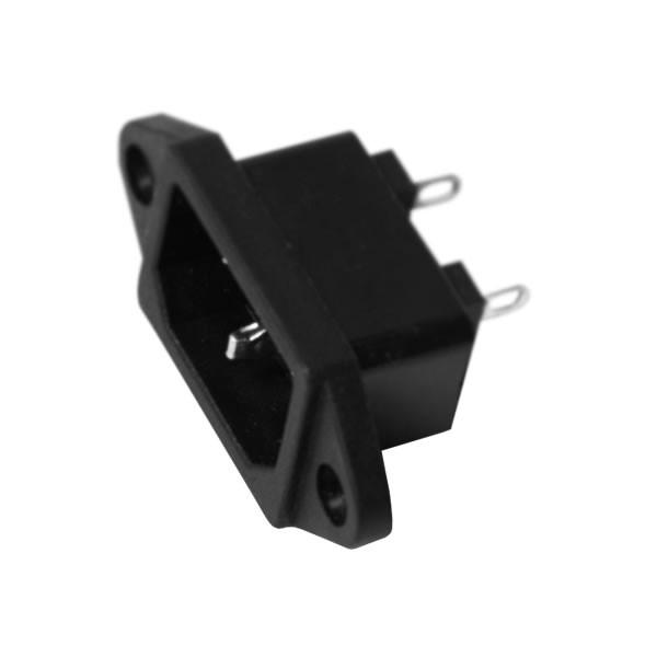 Tomada Plug 3 Pino Para Carregador De Bateria