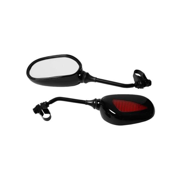 Espelho Retangular Preto com Refletor